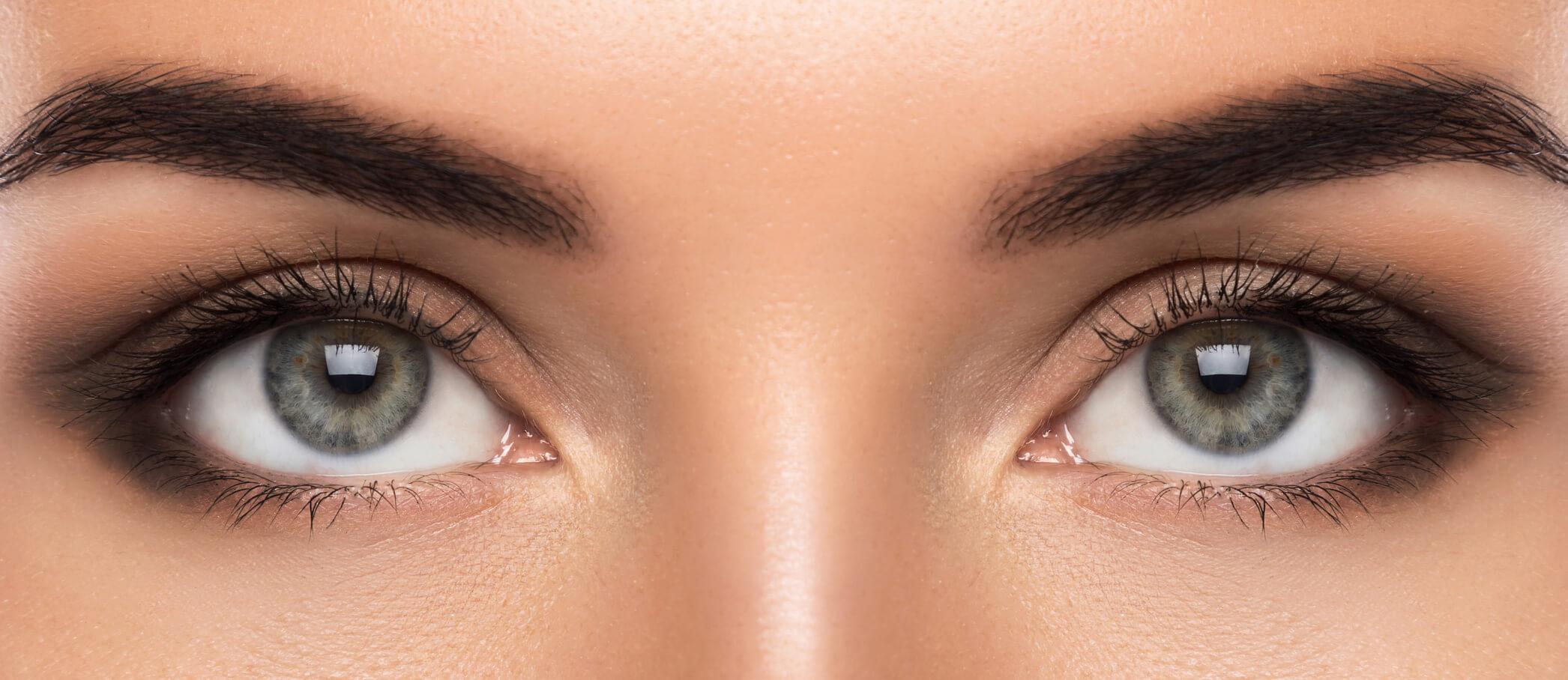 Nahaufnahme Augenpartie/ Microblading