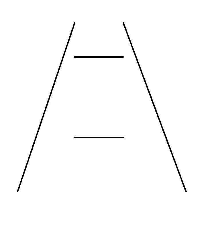Optische Täuschung - Ponzo-Täuschung