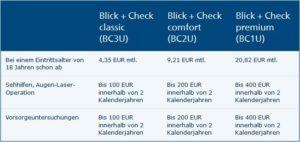 Tarife Blick + Check