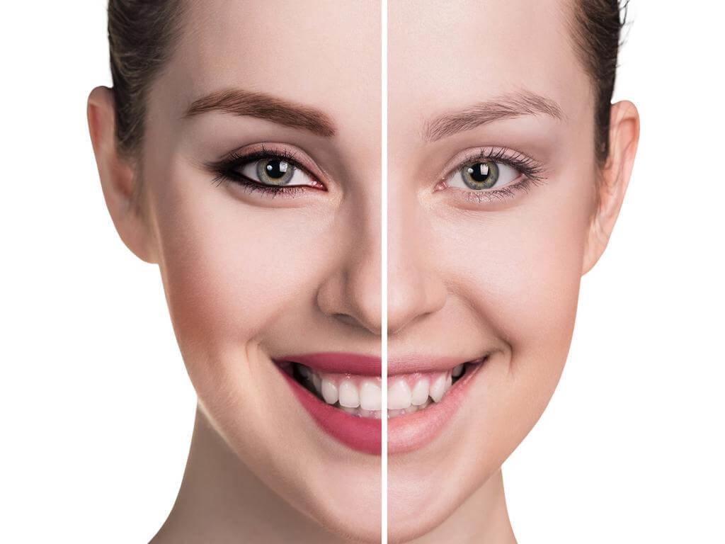 Vergleich Vorher/Nachher Augenbrauen färben