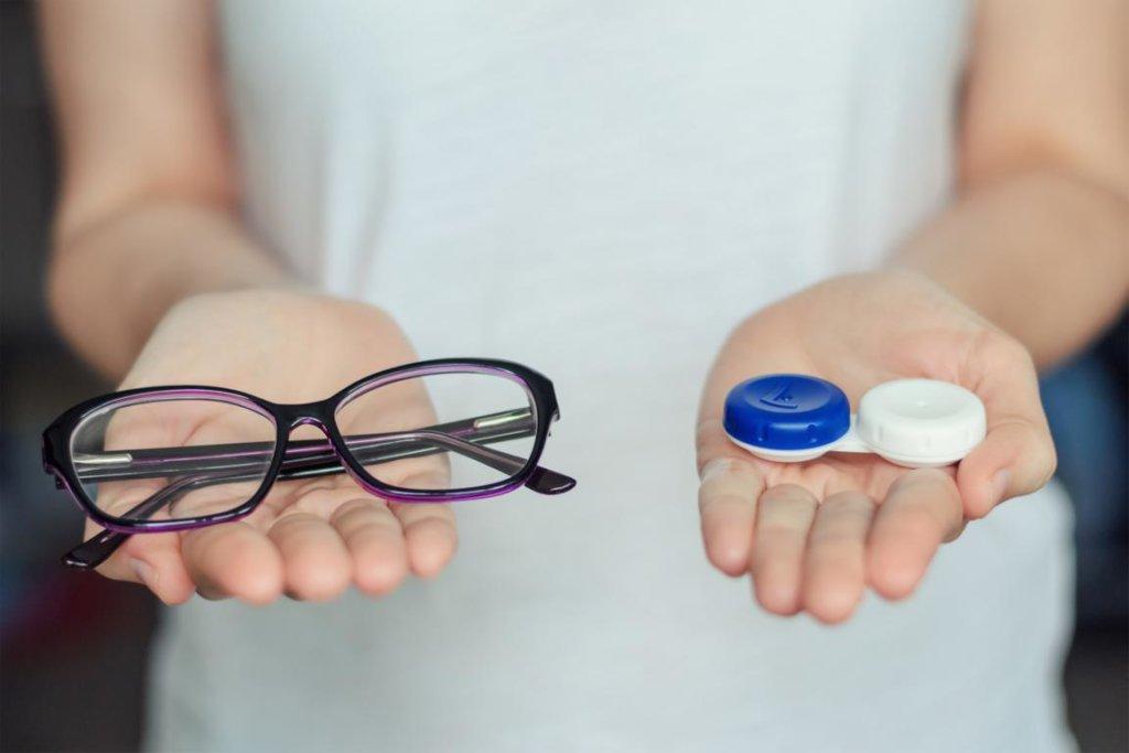 Kontaktlinsen Vergleich Brille